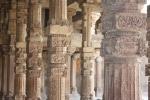 Hindu temple spolia used at Qutb Minar